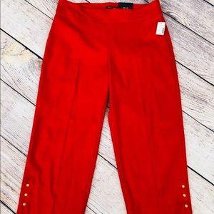 Lipstick red NWT new Capri capris cropped pants